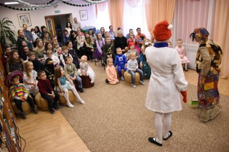 Сегодня в библиотеке им.О.Куваева состоялся интерактивный утренник  для юных жителей районов Нагаево и Телевышка.